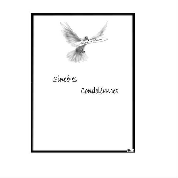 Populaire condoléances Cartes a imprimer CN63