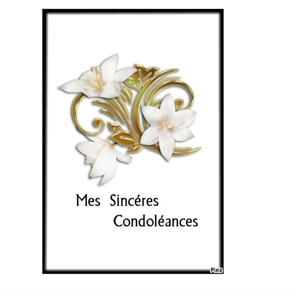 Sinceres Condoleances Cartes A Imprimer