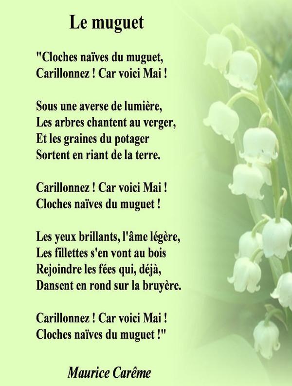 Poeme le muguet - Poeme coccinelle porte bonheur ...