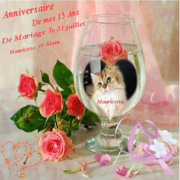 Anniversaire de mariage de mauricette - Anniversaire mariage 4 ans ...