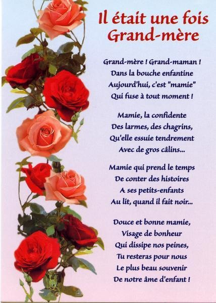 Poéme Pour Les Mamies